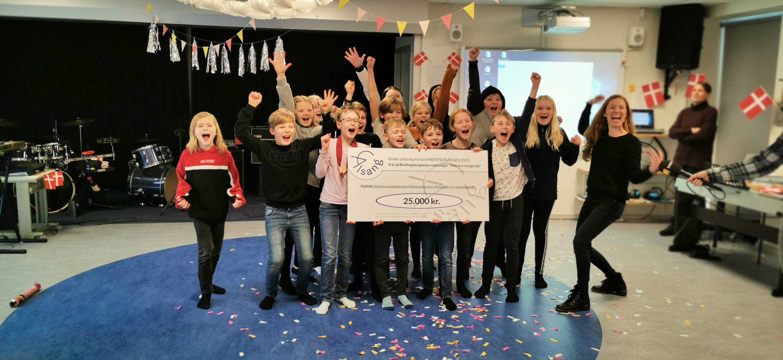 Vinderne af Fremtidssangen 2020, 4. klasse på Brattingsborgskolen