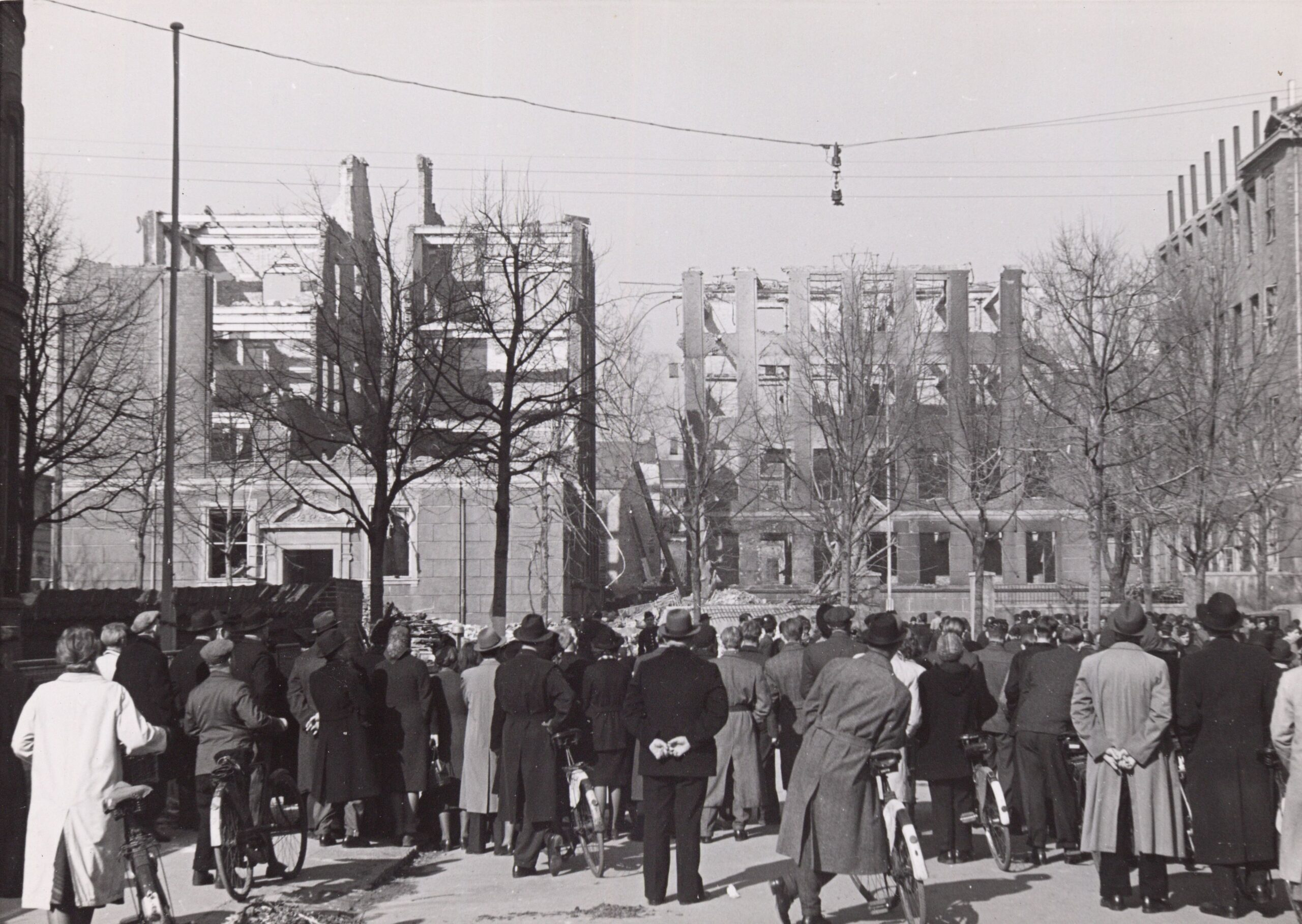 Den Franske Skole efter fejlangrebet 21. marts 1945